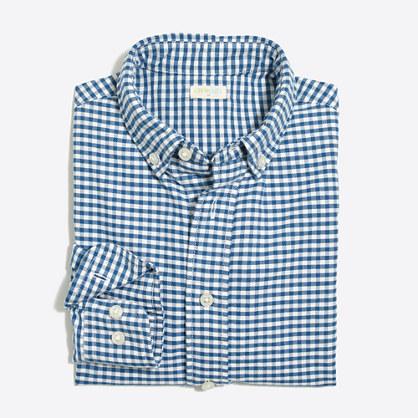 Boys' patterned oxford shirt
