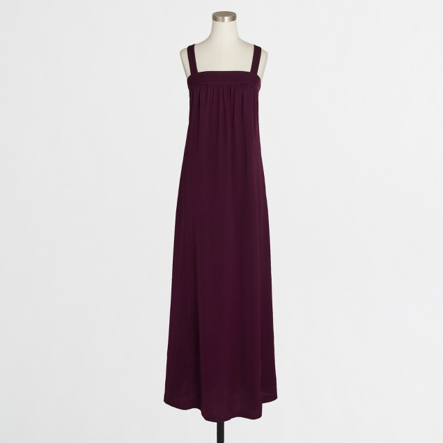 Petite drapey maxi dress