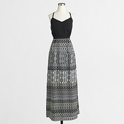 Factory maxi dress with printed skirt