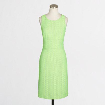 Racerback tweed dress