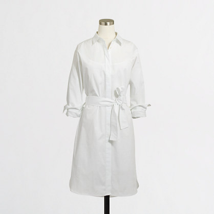 Factory cotton shirtdress with belt