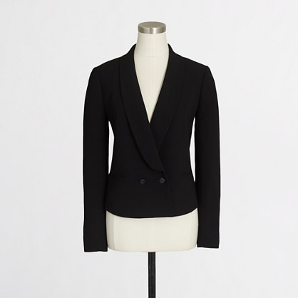 Cropped drapey blazer