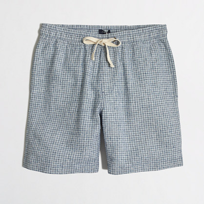 "7"" linen-cotton stadium short"