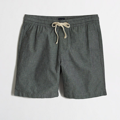 "7"" grey chambray stadium short"