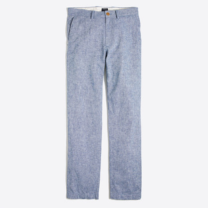 Sutton linen-cotton pant