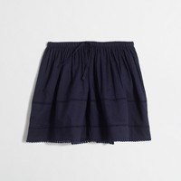Girls' skirt with crochet details