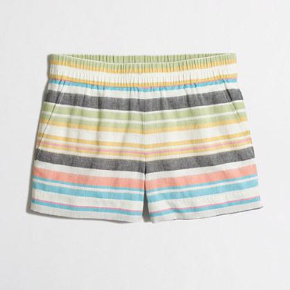"""3"""" boardwalk Pull-On Short in stripe"""