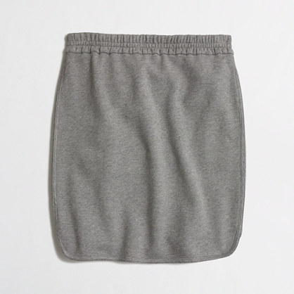 French Terry Pencil Skirt with curved hem