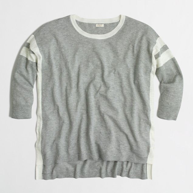 Lightweight tunic sweater in stripe