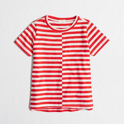 Girls' striped swing t-SHIRT