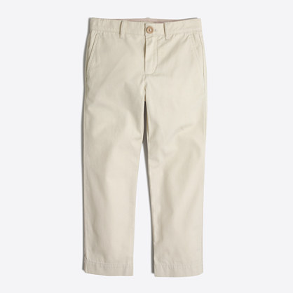 Boys' lightweight slim chino