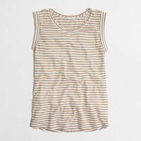 Striped drapey tank top