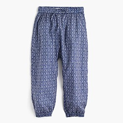 Factory girls' printed harem pant