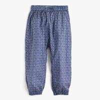 Girls' printed harem pant