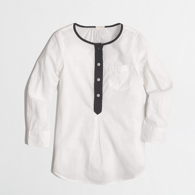 Girls' contrast-trim tunic