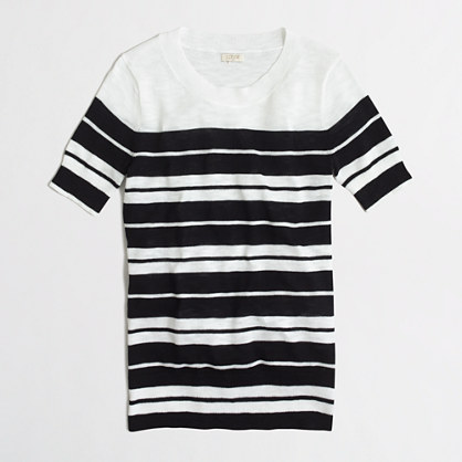 Short-sleeve charley sweater in stripe
