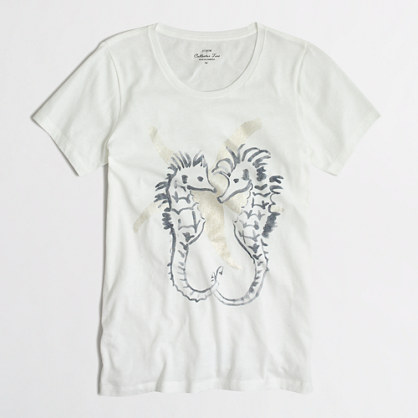 Seahorse collector T-shirt in airy cotton