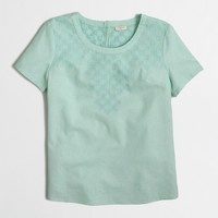 Embroidered linen t-shirt