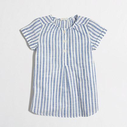 Girls' mixed-stripe tunic