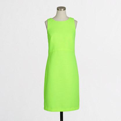 Jacquard peekaboo-back dress