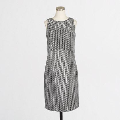 Printed jacquard peekaboo-back dress