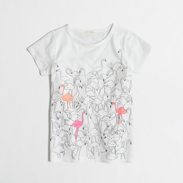 Girls' flamingos keepsake t-SHIRT