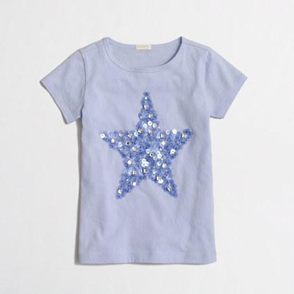 Girls' mirror star keepsake t-SHIRT