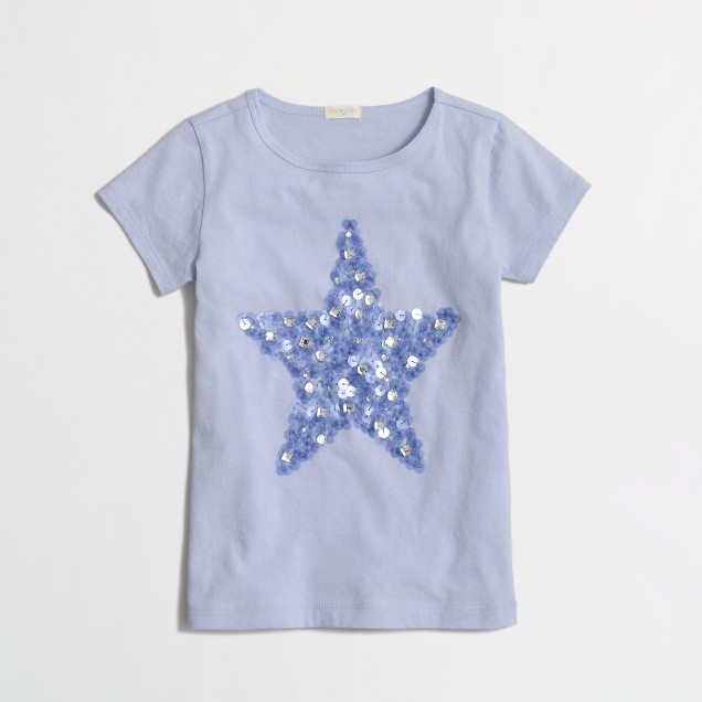 Girls' mirror star keepsake t-SHIRT