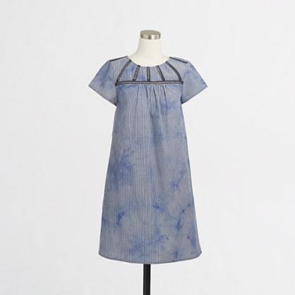 Seersucker dress in tie-Dye