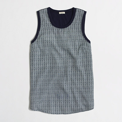 Petite printed panel-front tank top