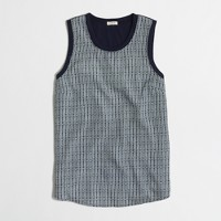 Printed panel-front tank top