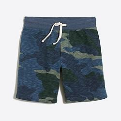 Boys' camo knit short