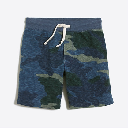 Boys' camo knit short