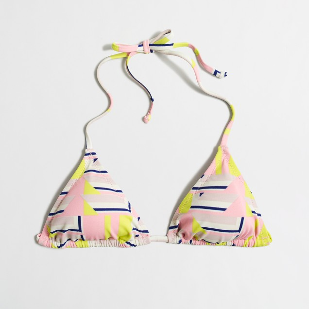 String bikini top in geometric shapes
