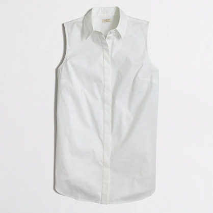 Sleeveless button-down shirt : Sleeveless | J.Crew Factory