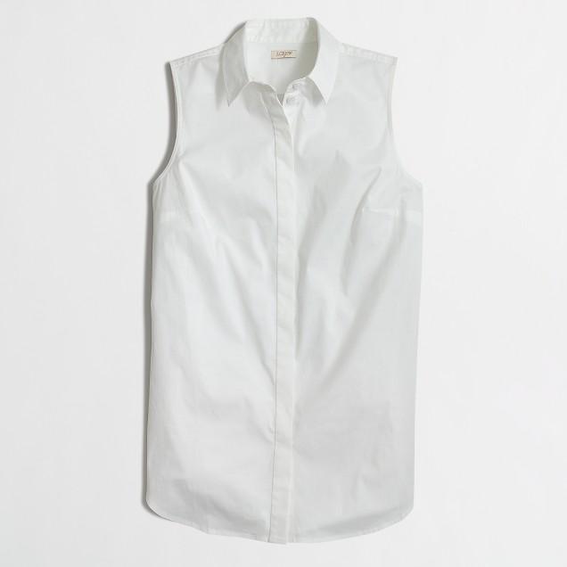 Petite sleeveless infinity shirt