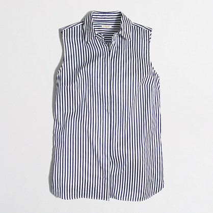 Factory striped sleeveless infinity shirt