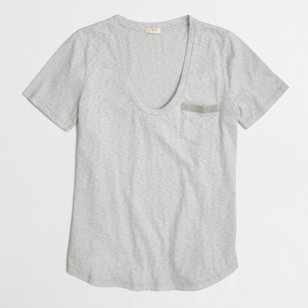 Sketched cotton pocket T-shirt