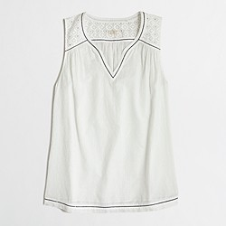 Factory swiss-dot tank top
