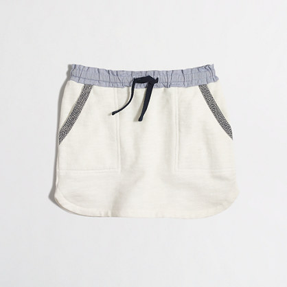 Girls' drawstring pocket skirt
