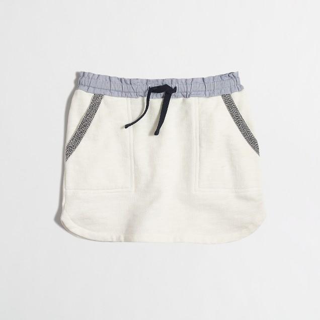 Girls' drawstring pocket skirt