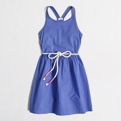 Girls' mixed-media racerback dress