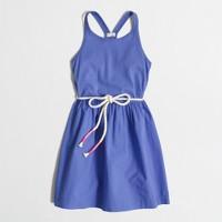 Girls' mixed-media racerback dress