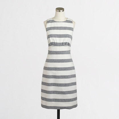 Striped basketweave dress