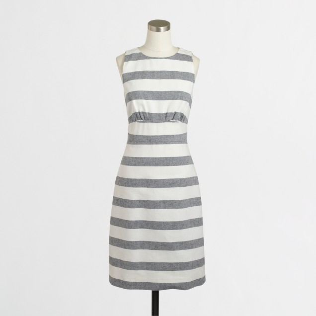 Striped basketweave dress