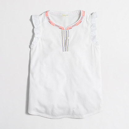 Girls' flutter-sleeve tank top