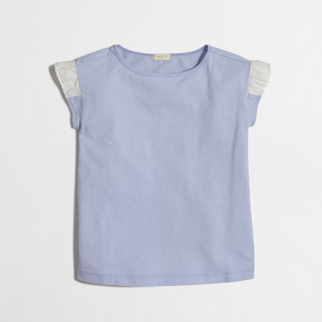 Girls' flutter-sleeve t-SHIRT