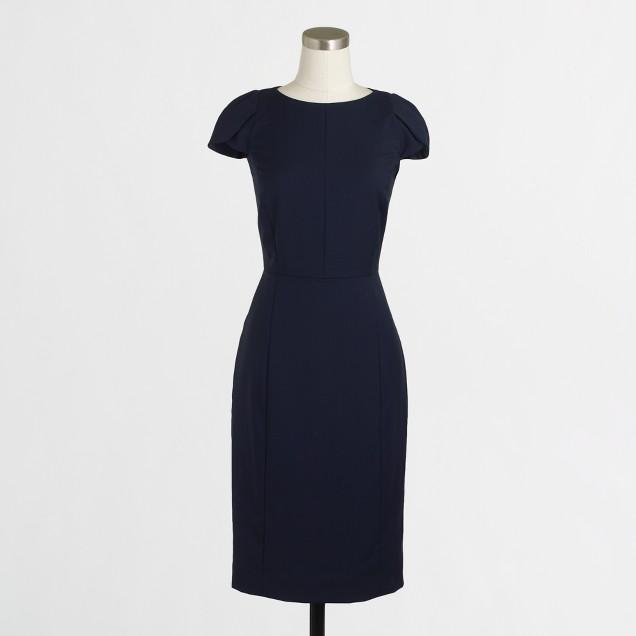 Petal-sleeve dress