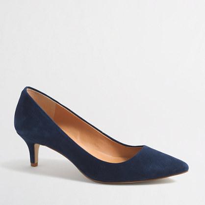 Esme suede kitten heels : Heels | J.Crew Factory