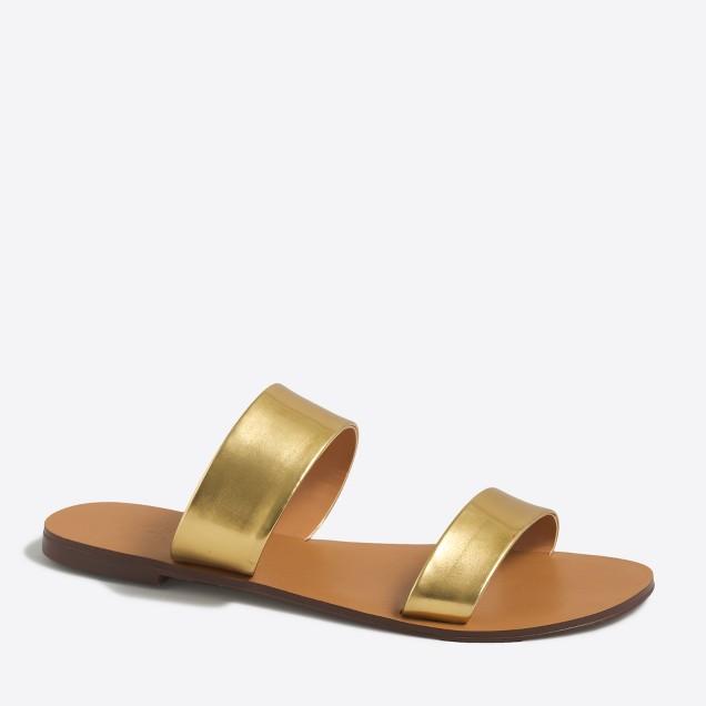 Mirror metallic boardwalk sandals